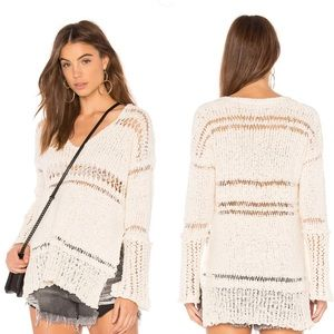 Free People Belong To You Sweater Ivory V-Neck XS